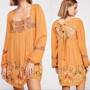 NWT Free People Mustard Rhiannon Dress